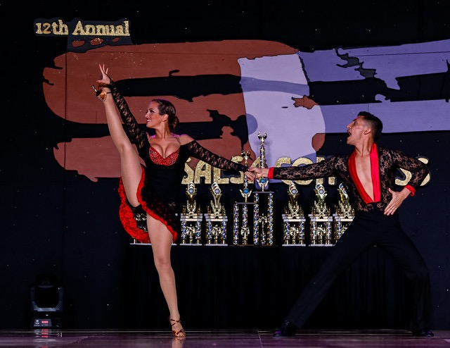 Student Megan Rommel with Instructor Nery Garcia- ProAm Competition San Francisco Salsa Congress